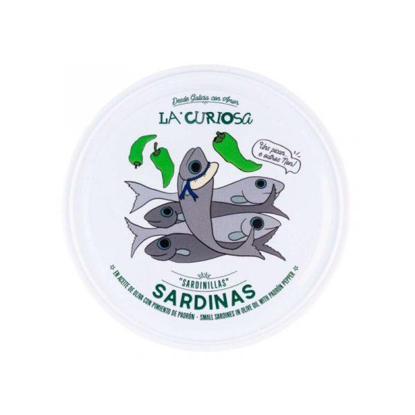 Sardinas con pimiento de Padrón La Curiosa